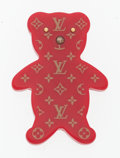 "Luxury Accessories:Accessories, Louis Vuitton Red Monogram Enamel Bear Brooch. Very Good toExcellent Condition. 2"" Width x 3"" Height x .5"" Depth ...."