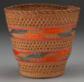 American Indian Art:Baskets, A TLINGIT POLYCHROME TWINED BASKET...