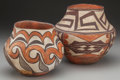 American Indian Art:Pottery, TWO SOUTHWEST POLYCHROME JARS. c. 1890... (Total: 2 Items)