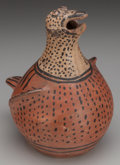 American Indian Art:Pottery, A SAN ILDEFONSO POLYCHROME BIRD EFFIGY CANTEEN. c. 1900...