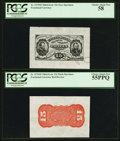 Fractional Currency:Third Issue, Fr. 1275SP 15¢ Third Issue Wide Margin Pair PCGS Graded.. ... (Total: 2 notes)