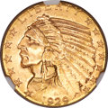 Indian Half Eagles, 1929 $5 MS64 NGC. CAC....