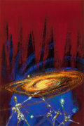 Mainstream Illustration, RICHARD M. POWERS (American, 1921-1996). Destination: Universe!paperback cover, 1964. Acrylic on board. 18.75 x 12.5 in...(Total: 2 Items)