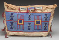 American Indian Art:Beadwork and Quillwork, A SIOUX BEADED HIDE TIPI BAG. c. 1880...