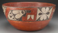 American Indian Art:Pottery, A ZIA POLYCHROME DOUGH BOWL. c. 1930...