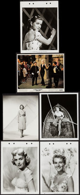 """Donna Reed & Others Lot (1950s-1960s). Photos (12) (7.5"""" X 9.5"""" & 8"""" X 10"""") and Keyb..."""