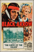 """Movie Posters:Serial, Black Arrow (Columbia, R-1955). One Sheets (2) (27"""" X 41"""") Chapter 6 -- """"Appointment with Death"""" & Chapter 11 -- """"The Curse ... (Total: 2 Items)"""