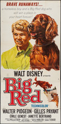"Movie Posters:Adventure, Big Red & Others Lot (Buena Vista, 1962). Three Sheets (3) (41""X 79""), Pressbook (13 Pages, 10.75"" X 14""), and One Sheets (...(Total: 11 Items)"