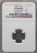 Early Half Dimes, 1800 H10C -- Damaged -- NGC Details. VF. NGC Census: (2/125). PCGSPopulation (20/211). Mintage: 40,000. Numismedia Wsl. Pr...
