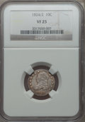 Bust Dimes: , 1824/2 10C VF25 NGC. NGC Census: (2/45). PCGS Population (5/51). Mintage: 100,000. Numismedia Wsl. Price for problem free N...