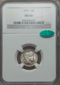 Barber Dimes: , 1915 10C MS66 NGC. CAC. NGC Census: (17/1). PCGS Population (11/0). Mintage: 5,620,450. Numismedia Wsl. Price for problem f...
