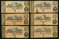 Confederate Notes:1864 Issues, T69 $5 1864 Eighteen Examples.. ... (Total: 18 notes)