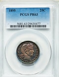 Proof Barber Quarters: , 1895 25C PR63 PCGS. PCGS Population (53/124). NGC Census: (25/152). Mintage: 880. Numismedia Wsl. Price for problem free NG...