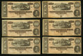 Confederate Notes:1864 Issues, T68 $10 1864 PF-15 Cr. 545 Nine Examples.. ... (Total: 9 notes)