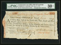 Colonial Notes:Continental Congress Issues, Continental Loan Office Bill of Exchange Fourth Bill- $24 June 17,1779 Anderson US-96/MA-5A. PMG Very Fine 30 NET.. ...