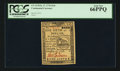 Colonial Notes:Continental Congress Issues, Continental Currency February 17, 1776 $1/6 PCGS Gem New 66PPQ.....