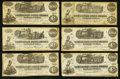 Confederate Notes:1862 Issues, $100 1862 Train Notes.. ... (Total: 12 notes)