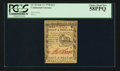 Colonial Notes:Continental Congress Issues, Continental Currency February 17, 1776 $1/2 PCGS Choice About New 58PPQ.. ...