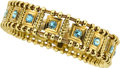 Estate Jewelry:Bracelets, Aquamarine, Gold Bracelet, Elizabeth Gage, English. ...