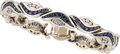 Estate Jewelry:Bracelets, Sapphire, Diamond, White Gold Bracelet, Charles Krypell. ...