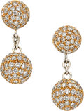 Estate Jewelry:Earrings, Diamond, Gold Earrings, Andreoli. ...