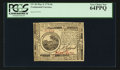 Colonial Notes:Continental Congress Issues, Continental Currency May 9, 1776 $6 PCGS Very Choice New 64PPQ.. ...