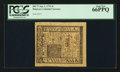 Colonial Notes:Delaware, Delaware January 1, 1776 5s PCGS Gem New 66PPQ.. ...