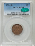 1914-D 1C XF40 PCGS. CAC. PCGS Population (427/987). NGC Census: (185/714). Mintage: 1,193,000. Numismedia Wsl. Price fo...
