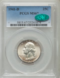 Washington Quarters: , 1941-D 25C MS67 PCGS. CAC. PCGS Population (34/1). NGC Census:(109/0). Mintage: 16,714,800. Numismedia Wsl. Price for prob...