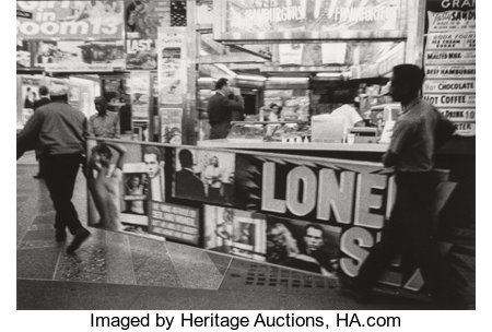ROBERT FRANK (American, b. 1924) Times Square, 1961 Gelatin silver, printed 1978 8-1/8 x 12 inches (20.6 x 30.5 cm) ...