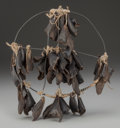 American Indian Art:Pipes, Tools, and Weapons, A NORTHWEST COAST DEW CLAW HOOP RATTLE. c. 1900...