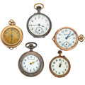 Timepieces:Pocket (post 1900), Three Lady's Pocket Watches & Two Pendants. ... (Total: 5Items)