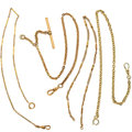 Timepieces:Watch Chains & Fobs, Four Gold Filled Watch Chains. ... (Total: 4 Items)