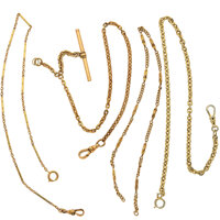 Four Gold Filled Watch Chains
