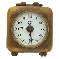 Vintage Key Wind Brass Alarm Clock