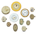 Timepieces:Other , Twelve Wristwatch Or Pocket Watch Movements. ... (Total: 12 Items)