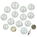 Timepieces:Other , Fifteen Pocket Watch Movements & One Winding Key. ... (Total: 16 Items)