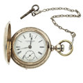 Timepieces:Pocket (pre 1900) , Rockford Hunter's Case 18 Size Pocket Watch. ...
