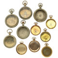 Timepieces:Other , Eleven Pocket Watch Cases All Sizes. ... (Total: 11 Items)