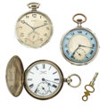 Timepieces:Pocket (pre 1900) , Three Pocket Watches For Parts Or Repair Runners. ... (Total: 3Items)