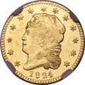 Early Quarter Eagles, 1824/1 $2 1/2 BD-1, R.5, MS61 NGC....