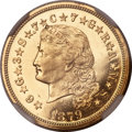 Proof Four Dollar Gold Pieces, 1879 $4 Flowing Hair, Judd-1635, Pollock-1833, R.3, PR62 Cameo NGC....