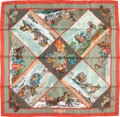 "Luxury Accessories:Accessories, Hermes 90cm Red & Green ""Voyages en Russie,"" by Loïc DubigeonSilk Scarf. Excellent Condition. 36"" Width x 36"" Length. ..."