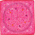 "Luxury Accessories:Accessories, Hermes 90cm Pink & White ""Lalbhai,"" by Michel Duchene SilkScarf. Excellent Condition. 36"" Width x 36"" Length. ..."