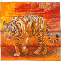 "Luxury Accessories:Accessories, Hermes 90cm Orange & White ""Tigre du Bengale,"" by Robert DalletSilk Scarf. Excellent Condition. 36"" Width x 36""Lengt..."