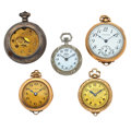 Timepieces:Pocket (post 1900), Three Pendant's & Two Pocket Watches. ... (Total: 5 Items)