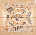 "Luxury Accessories:Accessories, Hermes 90cm Brown & Tan ""Tanzanie,"" by Robert Dallet Silk Scarf. Excellent Condition . 36"" Width x 36"" Length . ..."