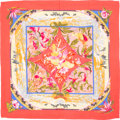 "Luxury Accessories:Accessories, Hermes 140cm Pink & Blue ""Tropiques,"" by Laurence BourthoumieuxSilk and Cashmere Scarf. Excellent to Pristine Condition..."