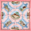 "Luxury Accessories:Accessories, Hermes 70cm Pink & Blue ""La Chasse en Afrique,"" by Hugo GrygkarSilk Scarf. Excellent Condition. 27.5"" Width x 27.5""L..."