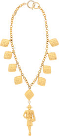 "Luxury Accessories:Accessories, Chanel Gold Madame Coco Chanel Necklace . Very Good to ExcellentCondition . 8"" Length . ..."